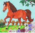 f23 horse and flowers